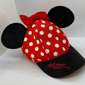 Disney Parks Minnie Mouse Ears Hat Snapback Youth